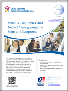 Recognizing Signs of Abuse Brochure